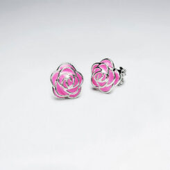 Cercei Argint 925-Trandafir Roz