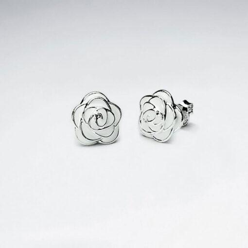 Cercei Argint 925-Trandafir Alb