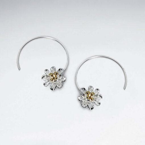 Cercei Argint 925-Flori si cercuri