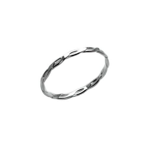 Inel Argint 925 -Benzi Incrucisate