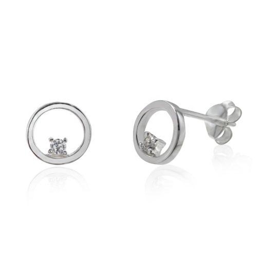 Cercei Argint 925-Cerc si Cristale